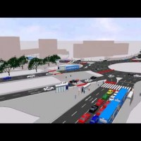PTV Vissim and Viswalk: Simulation of traffic and pedestrians interaction
